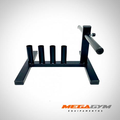 Kit Completo Barras + Suporte Organizador + 40kg Anilhas: 2x10kg, 4x5kg
