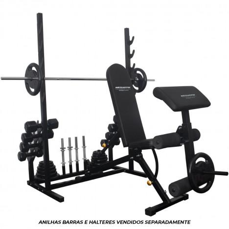 Banco Rack PRO 10x1 Estação completa para Musculação