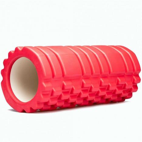 Rolo Massagem Foam Roller Para Liberação Miofascial - Vermelho
