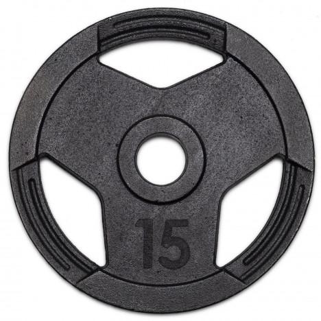 Anilha Olímpicas 15kg Sport Pintada Furo 51mm